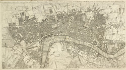 The LONDON DIRECTORY, or a New & Improved PLAN of LONDON, WESTMINSTER & SOUTHWARK; with the adjacent Country